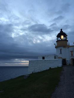Stoer Lighthouse night